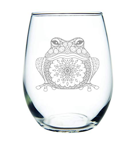 Frog stemless wine glass, 15 oz. ()