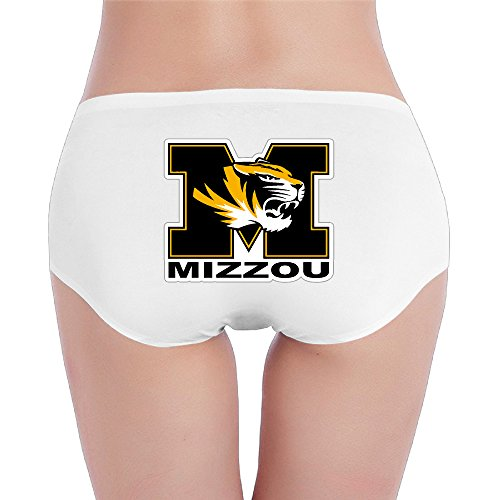 Low Rise Tiger - Hovalle University Of Missouri Tigers Low-Rise Sexy Ladies Fashion Underwear Seam Free Briefs.Brief Hipster Brief White M