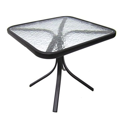Cheap Mainstays Square Outdoor Glass Top Side Table