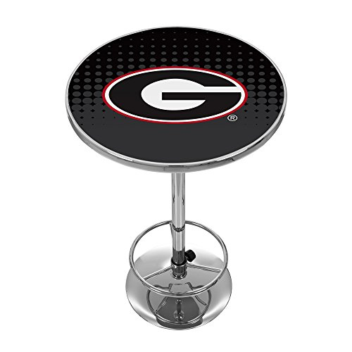 Georgia Pub Table - Trademark Gameroom University of Georgia Chrome Pub Table - Reflection