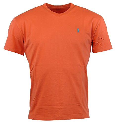 Polo Ralph Lauren Mens Classic Fit Solid V-Neck T-Shirt - L - ()
