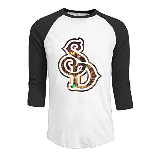 [Texhood Men's Sd Customized 100% Cotton 3/4 Sleeve Raglan Crew-Neck Summer T-Shirts Black L] (Crazy One Direction Fan Costume)