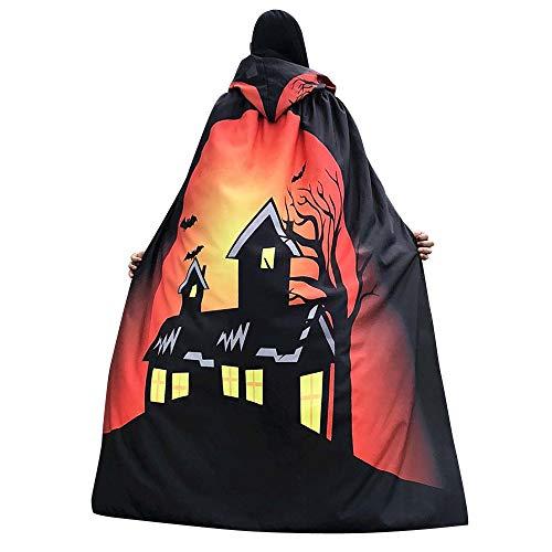 Halloween Women Cape KIKOY Novelty Pumpkin Happy Halloween Printing Shawl Cloak