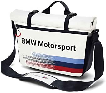 BMW Genuine Motorsport Collection Messenger Bag For 15 Laptops White Team Blue