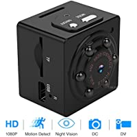 Mini Hidden Spy Camera 1080P Portable Spy Camcorder with Night Vision, Motion Detection, Indoor/Outdoor Use