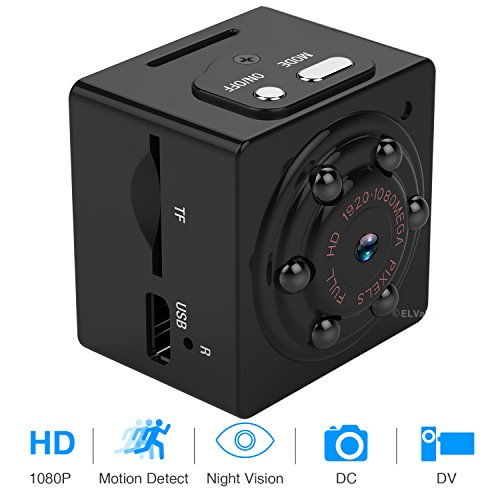 Mini Hidden Spy Camera 1080P Portable Spy Camcorder with Nig
