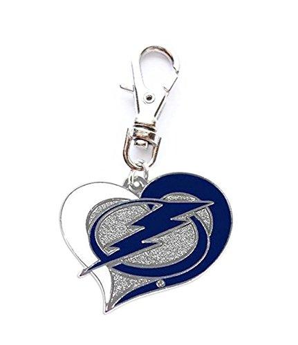 Heavens Jewelry Tampa Bay Lightning Hockey Heart Team Charm ADD to Zipper Pull PET Dog CAT Collar Leash Keychain ETC