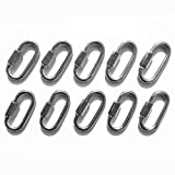 10Pcs 316 Stainless Steel Quick Link Chain Connector 5/32'(4mm) - 1/4'(6mm) Marine Grade