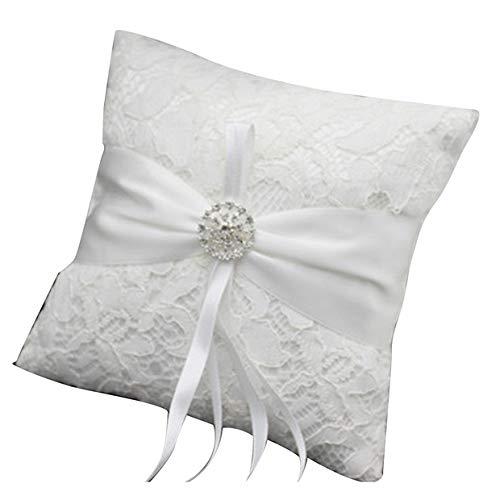 Aisheny - Almohadas de Encaje Floral para Anillos de Novia ...