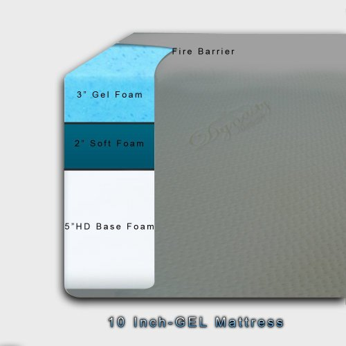 Dynastymattress 10 Inch Memory Foam Mattress Twin Size