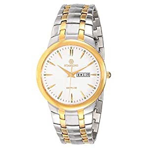 Starking Men's White Dial Stainless Steel Band Watch - BM0871GS81