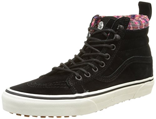 Vans Unisex SK8-HI MTE Mountain Edition Shoes-Black/Woven Chevron-7-Women/5.5-Men