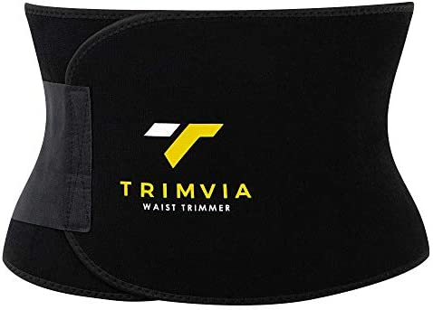 TRIMVIA Waist Trimmer for Women and Men, Sweat Band Waist Trainer, Waist Shaper, Waist Cincher 1
