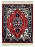 Lextra Tabriz Heriz MouseRug, 10.25 x 7.125 Inches, Red, Navy and White, One (ATH-1)