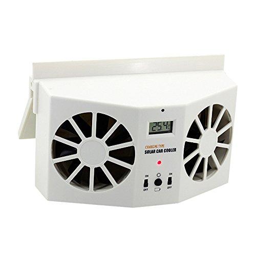 Highpot NEW Solar Powered Car Window Air Vent Ventilator Mini Air Conditioner Cool Fan