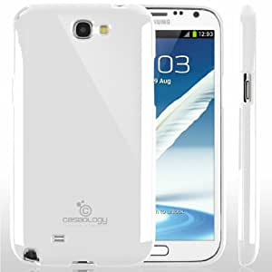 [Drop Protection] Caseology Samsung Galaxy Note 2 [White] Slim Fit Skin Cover [Shock Absorbent] TPU Bumper Case [Made in Korea] (for Verizon, AT&T Sprint, T-mobile, Unlocked)