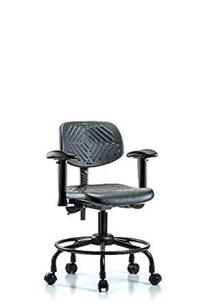 labtech asiento lt43668 escritorio silla de altura, poliuretano, tubo redondo Base - Armas, ruedas, Cubic _ pulgadas, grado C, poliuretano,, (: Amazon.es: ...