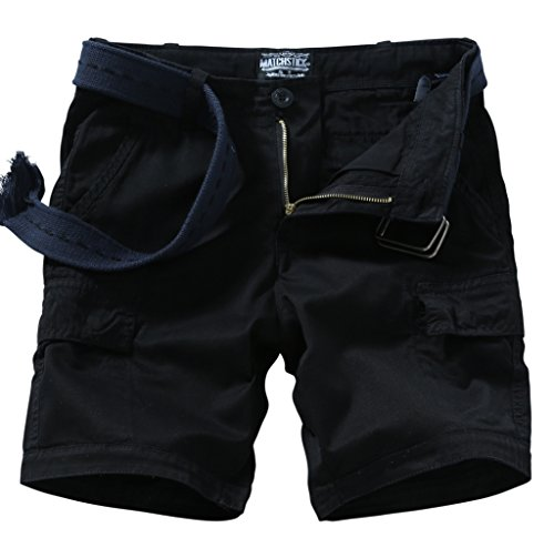 Match Men's Retro Cargo Summer Shorts (Label size M/30 (US 29),3050 Black)