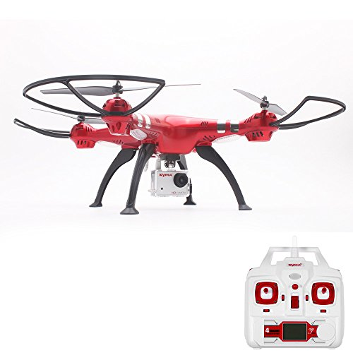 Fineser Syma X8HG RC Quadcopter Drone with 8MP 1080P HD Camera RTF 4 Channel 2.4GHz 6-Gyro RC Drone with Barometer Setting Height Function,Headless Mode and One Key Return Home