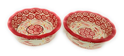 Temp-tations Set of 2 Mini Pie Pans, Deep Dish 5.75'' x 1.75'' each - Stoneware (Old World Red) by Temptations (Image #5)'