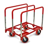 Raymond 3880 Steel Panel Mover with 3 Standard Upright and 8'' x 2'' Quiet Poly Caster, 2400 lbs Capacity, 42/16'' Length x 31/13'' Width x 6/10'' Height