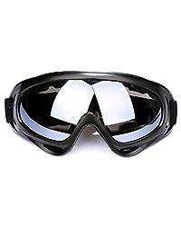 Vanker Motorcycle MTB Ski Snowboard Dustproof Eyeglasses Goggles Sunglasses White
