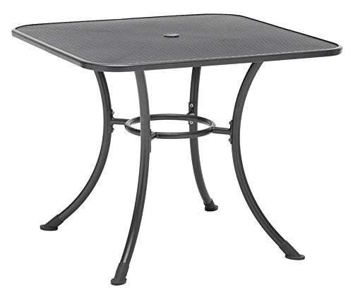 Square Mesh Top Table in Gray (36 in. W x 36 in. D x 28 in. H) - Table Top Mesh