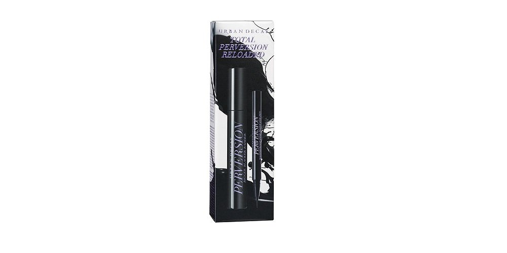 UD Total Perversion Reloaded Blackest Black 2 PC Full Size Set: Perversion Waterproof Fine Point Eye Pen + Perversion Mascara