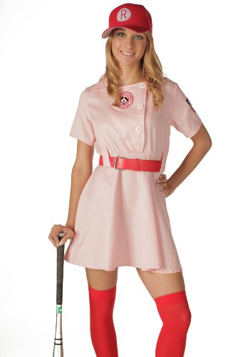 Women's Rockford Peaches Adult Costume Pink/Red]()