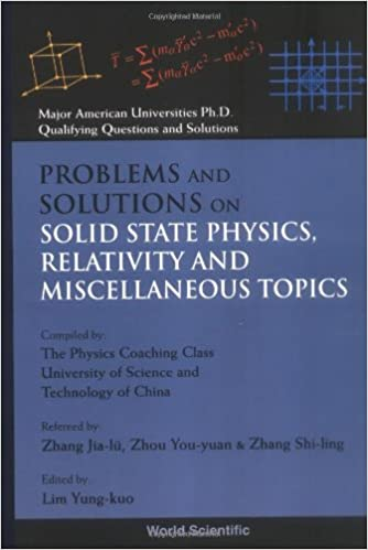 Problems And Solutions On Solid State Physics, Relativity