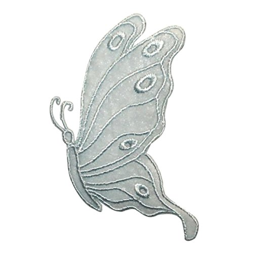 Fairy Applique - ID 2039 Lace Butterfly Patch Fairy Garden Decor Bug Embroidered Iron On Applique