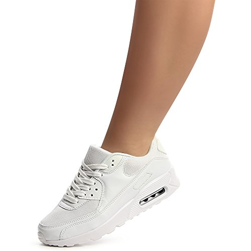 Sneaker Topschuhe24 Blanc Femmes De Chaussures Sport xwYqHBYZ1