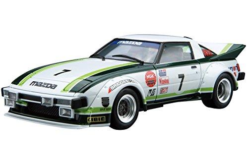 Aoshima 1/24 Model Car No.22 Mazda SA22C RX-7 Daytona '79 Model Kit(Japan Import)