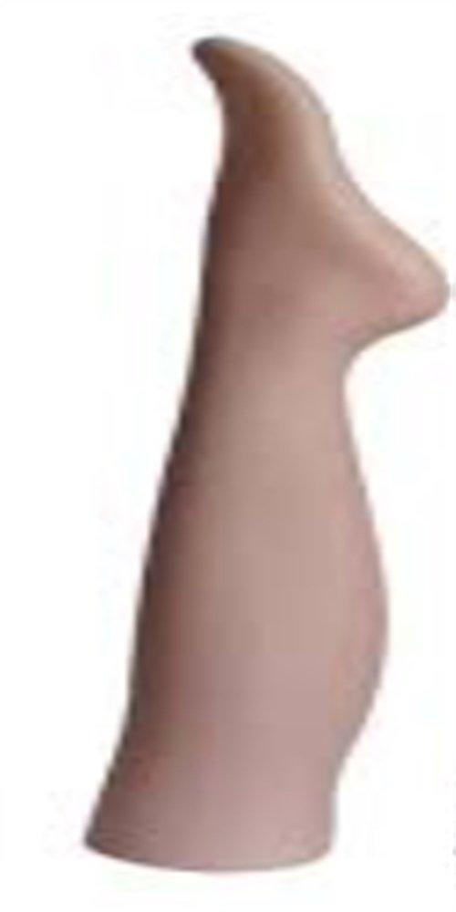 (PS-FLEG) ROXY DISPLAY Plastic Female Mannequin Leg, Magnetic Bottom, Flesh Tone, Sox/Sock Display