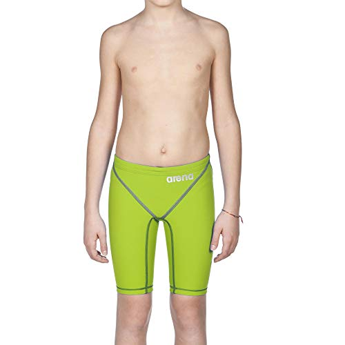 b146e20c066f4 arena Boy's Powerskin ST 2.0 Jammer Racing Suit, Lime Green, 28