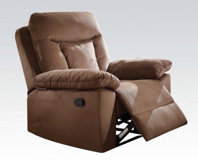 Acme Furniture 51427 Elisha Recliner, Chocolate Padded Suede