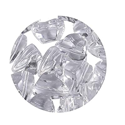 GMHome Decorative Crystal Stones Mini Rocks Polished Decorative Stone, Small Rock Stones for Fireplace Ember Bed, Home Decoration,Swimming Pool, 3 Pounds -CY001, Clear: Home & Kitchen