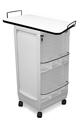 C180E-LT Prime Medical Physicians, Dentists Roll-about Rolling Trolley Cart w/109 Laminated top MADE IN USA