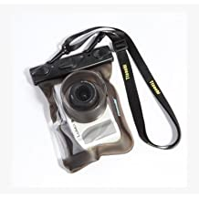 20M Underwater Waterproof DSLR SLR Camera Case For Sony NEX-7 NEX-F3 NEX-5R Panasonic LX5 LX7 LX2 GF3 Z3 Nikon S8200 P7100 J1 V1 Casio zr1000 zr1200 Fujifilm X20 Cannon G12 G11 G10 G15 G16 Samsung NX1000 (lenses port long?4cm) - Brown