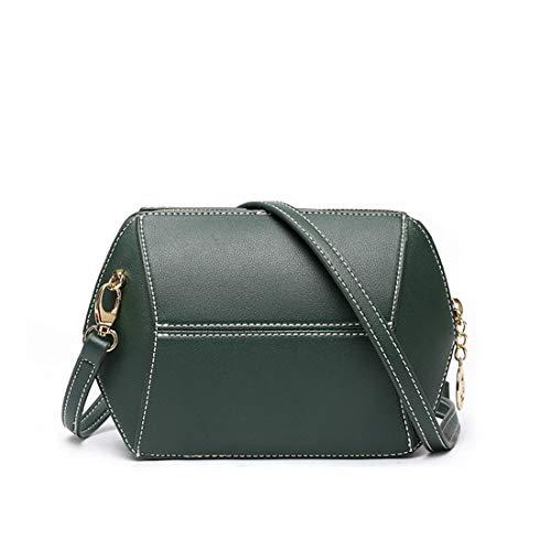 color Zip Mini Pu Green Dark Simple Messenger Red Bandolera Retro Bag Geometric Rosa Hungrybubble wqFxvv
