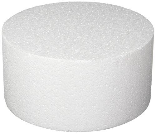 "Oasis Supply 747058 Dummy Round Cake, 8"" x 4"", White"