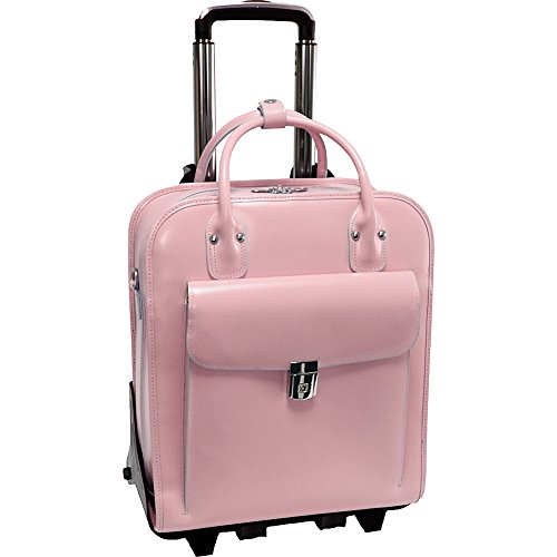 McKlein USA W Series La Grange Leather Vertical Detachable-Wheeled Ladies, Pink, One Size
