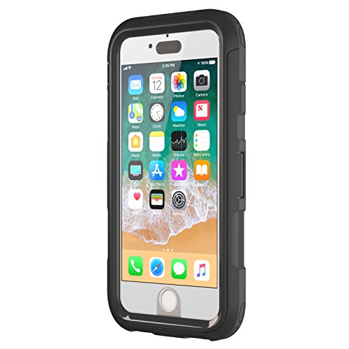 Griffin Survivor Extreme Custodia per iPhone 8 Plus/7 Plus, Nero/Chiaro