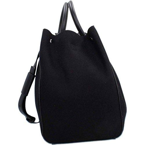Handtaschen Damen, farbe Schwarz , marke CALVIN KLEIN, modell Handtaschen Damen CALVIN KLEIN SAVANNAH TOTE WOOL Schwarz Schwarz