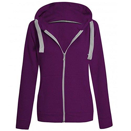 pour Sweat capuche Violet capuche Outofgas Violet Uni femme Veste Clothing zipp Sweat Fpnqn08B
