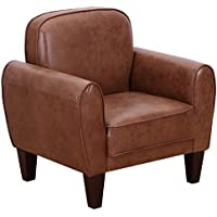 Giantex Single Sofa Leisure Arm Chair Accent Upholstered Living Room Office Furniture (Coffee)