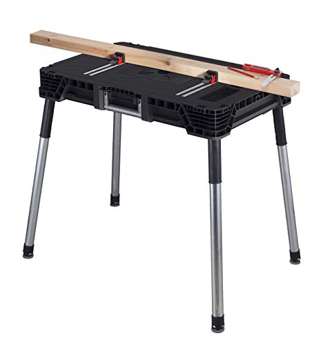 Keter Jobmade Clamping Portable Work Bench Table for Woodworking Tools
