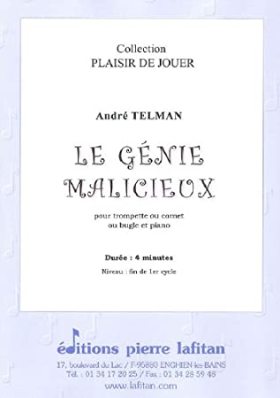 LAFITAN TELMAN ANDRE - LE GENIE MALICIEUX - TROMPETTE SIB OU UT ...