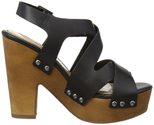Mujer Sandalias Cross Tacón Jeans Negro De Joplin Pepe qgTYw