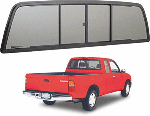 C.R. LAURENCE TSW1500S CRL Duo-Vent Four Panel Slider With Solar Glass for 1995-2004 Toyota Tacoma